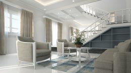 Salón de las casas de lujo modernas